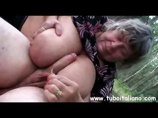 Free granny tube italian